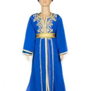Caftan1 Fille Bleu