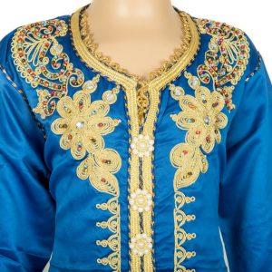 Caftan Fille Bleu sans ceinture