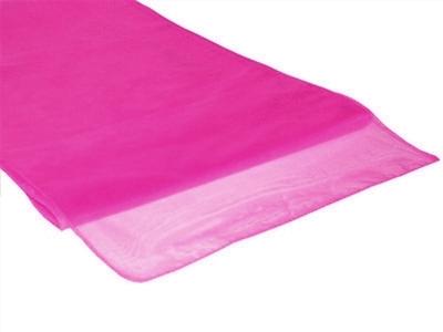 Chemins de table en Organza Rose Fushia par 10
