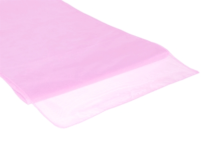 Chemins de table en Organza Rose Clair par 10