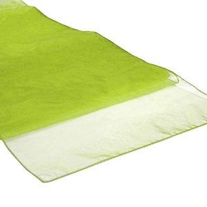 Chemins de table en Organza Vert Anis par 10
