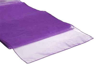 Chemins de table en Organza Violet par 10