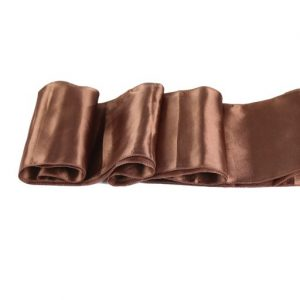Chemins de table en Satin Chocolat par 10