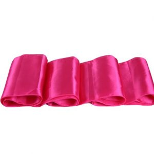 Chemins de table en Satin Rose Fushia par 10
