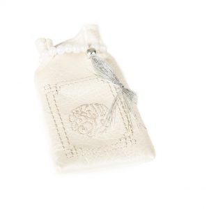 Minicoran Blanc brodé Argent
