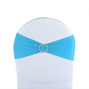 Noeud de Chaise Lycra Turquoise par 10