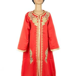 Caftan1 Fille Orange