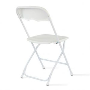 Chaise pliante blanche - location
