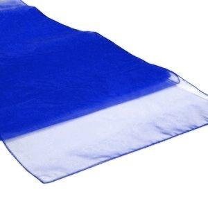 Chemins de table en Organza Bleu roi par 10