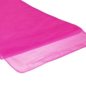 Chemins de table en Organza Rose Fushia par 10