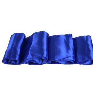 Chemins de table en Satin Bleu Roi par 10