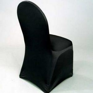Housse de chaise Lycra avec attaches noire - location