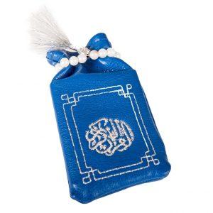 Minicoran Bleu Roi brodé Argent - Vente