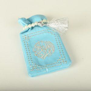 Minicoran Bleu clair brodé Argent
