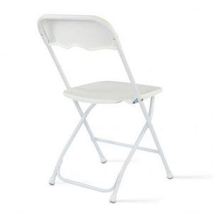 Chaise pliante blanche - location