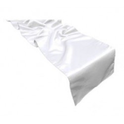 Chemins de table en Satin Blanc par 10
