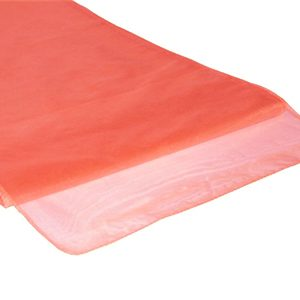 Chemins de table en Organza Orange par 10